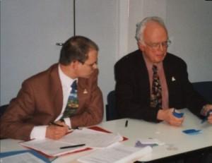 Lothar Teichmann & Dr. Kraft Engel bei der Stimmenauszählung
